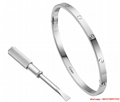 cartier love bracelet sm white gold