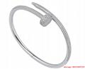 cartier juste un clou bracelets white gold diamond  1