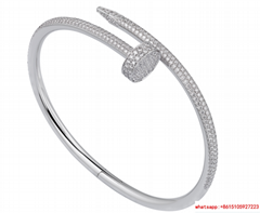 cartier juste un clou bracelets white gold diamond