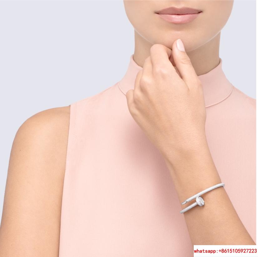 cartier juste un clou bracelets white gold diamond  2