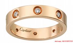 cartier love wedding band 8 diamonds rings rose gold  cartier rings