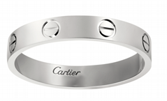 cartier love wedding band  white gold rings cartier rings