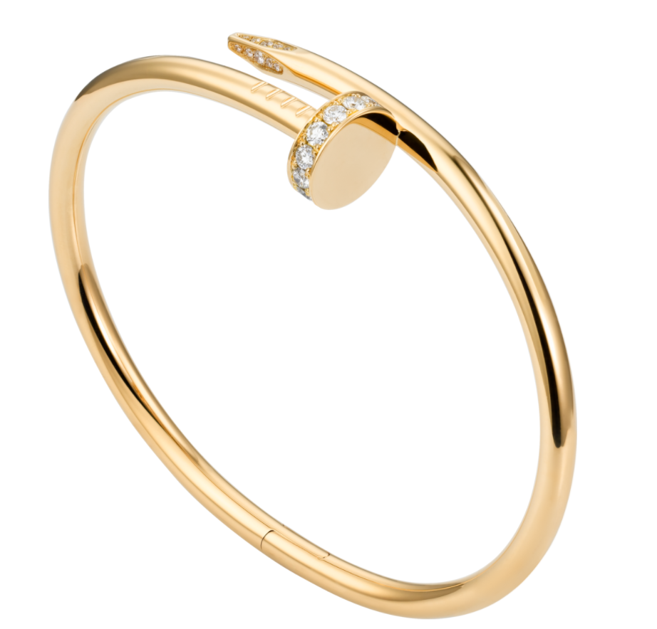 cartier juste un clou bracelet yellow gold diamond cartier bracelet 1