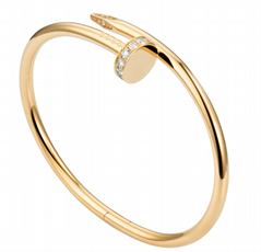cartier juste un clou bracelet yellow gold diamond cartier bracelet