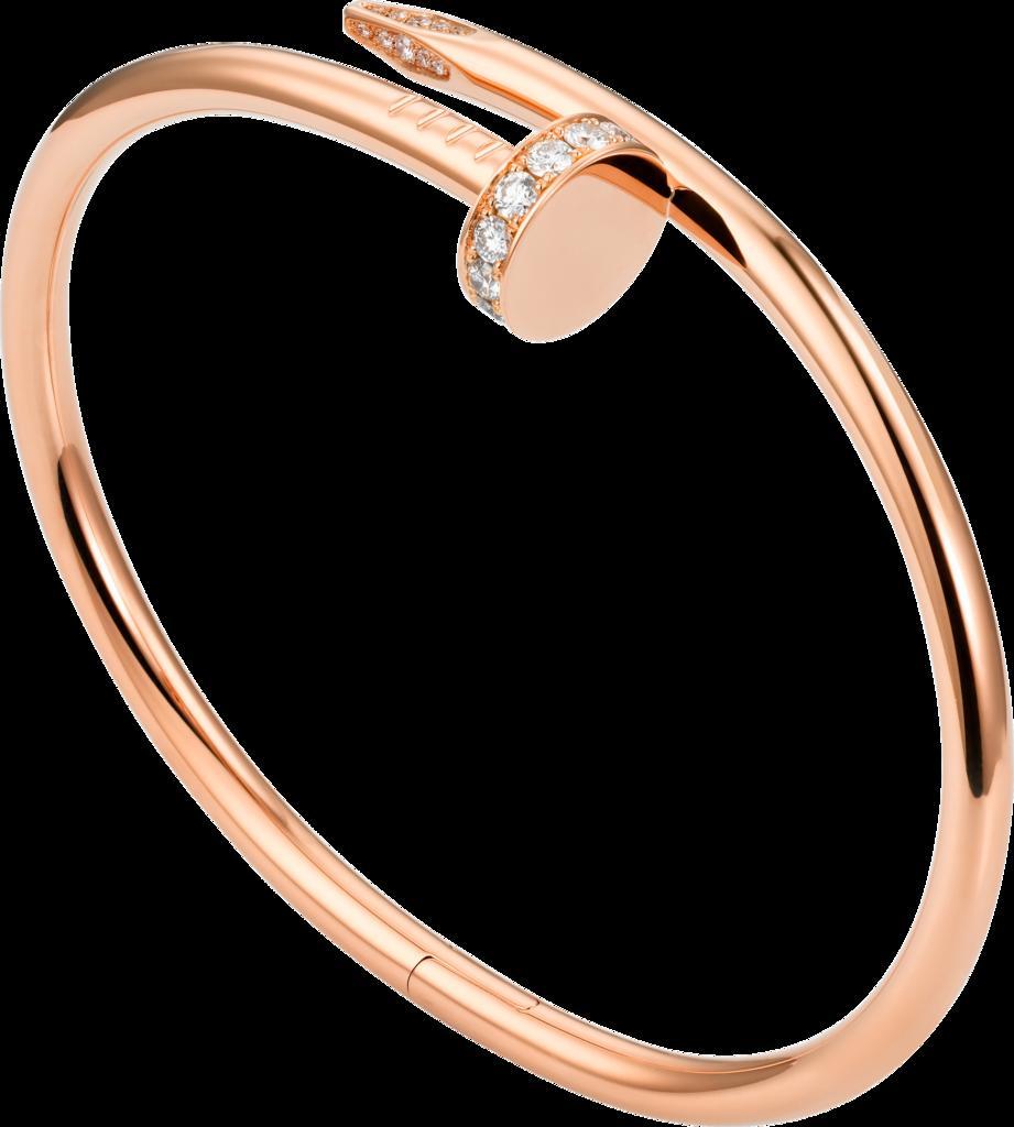 cartier juste un clou bracelet rose  gold diamond cartier bracelet 1
