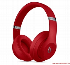Beats Studio3 Wireless Over‑Ear Headphones Red wtih hard case