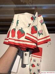 gucci stawberry umbrella anti uv umbrella gucci all-weather automatic  umbrella