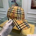 burberry vintage check and icon stripe baseball cap burberry cap burberry hats  2