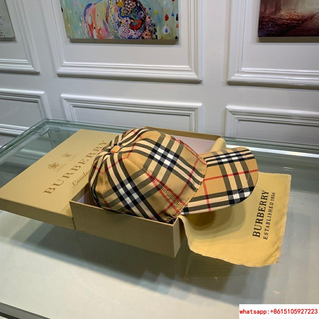 burberry vintage check and icon stripe baseball cap burberry cap burberry hats  4
