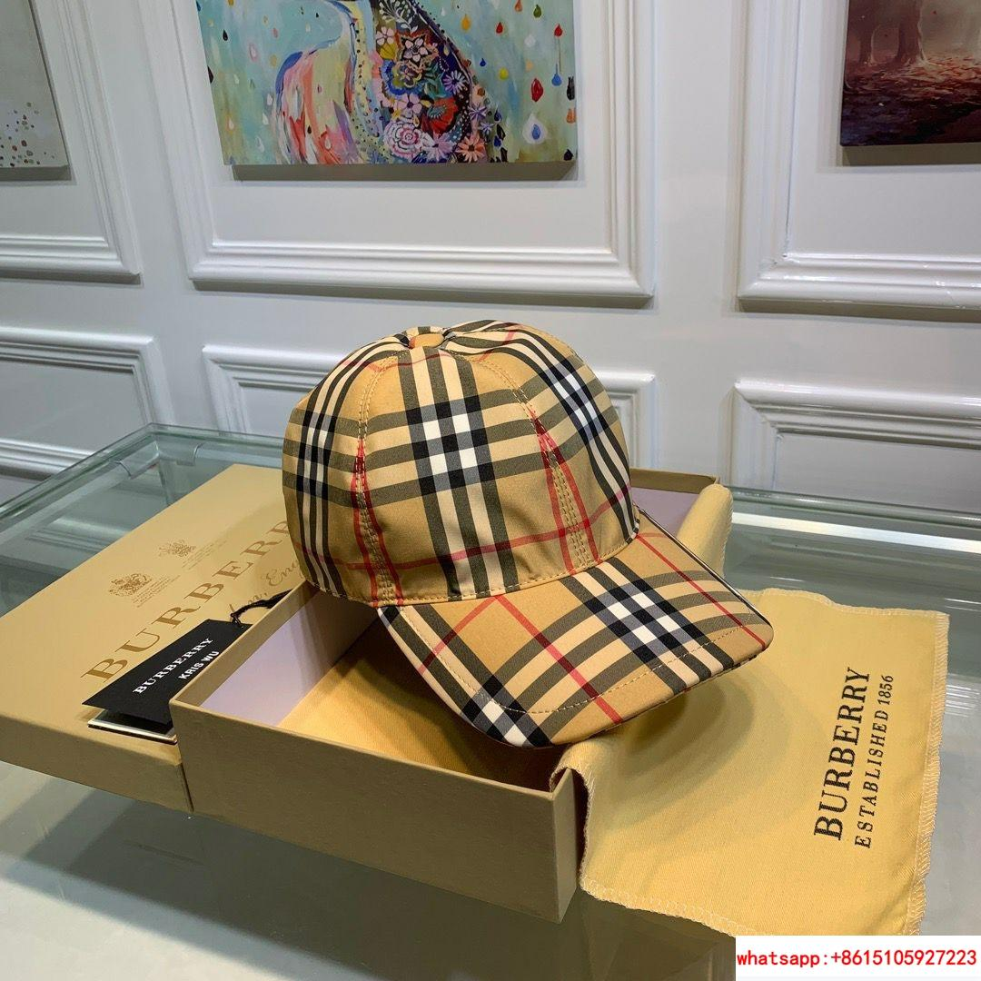 burberry vintage check and icon stripe baseball cap burberry cap burberry hats  5