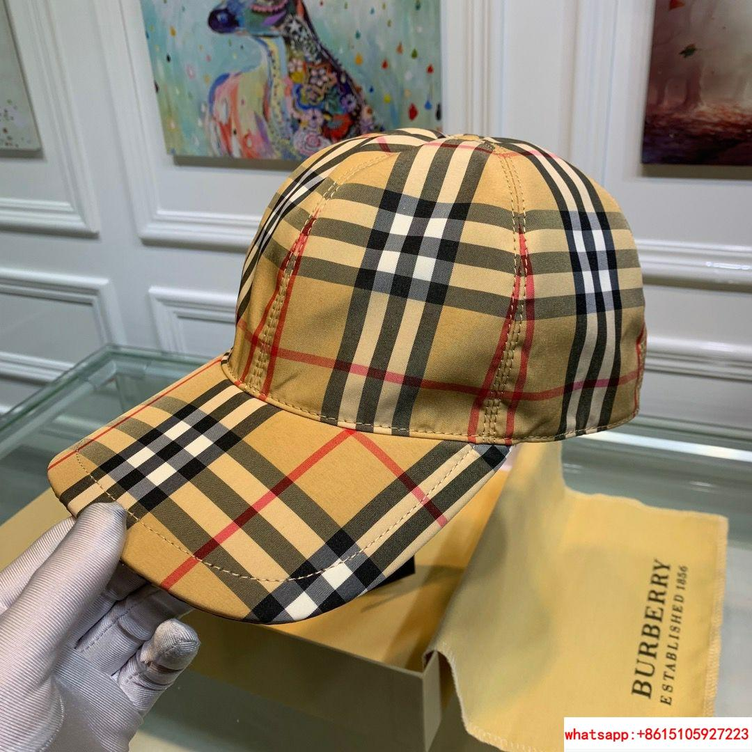 burberry vintage check and icon stripe baseball cap burberry cap burberry hats  1