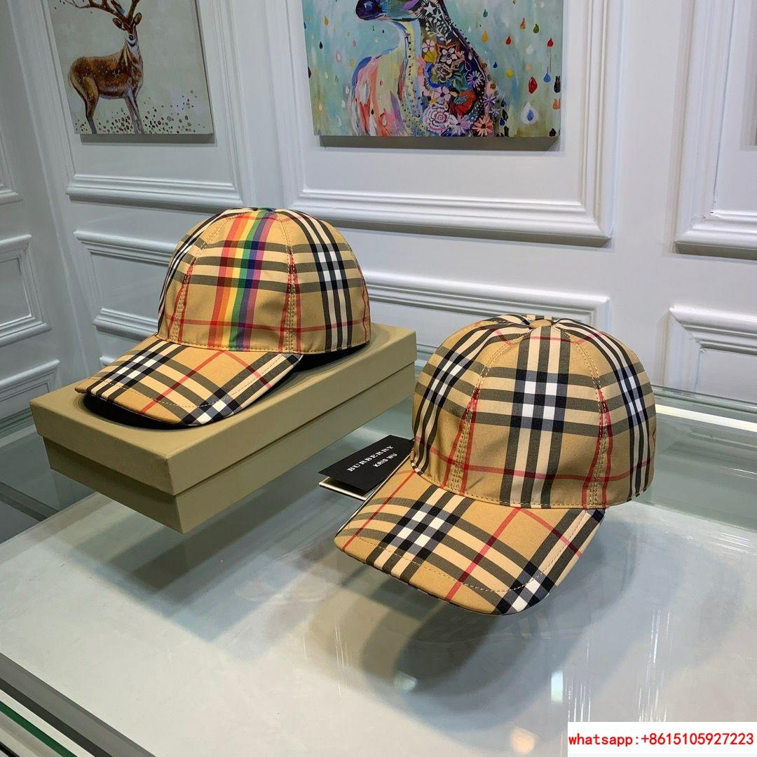 burberry vintage check and icon stripe baseball cap burberry cap burberry hats  8