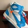 NIKE x OFF-WHITE The Ten Air Jordan 1 Light Blue x White Men's Sneakers nike  2