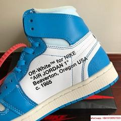 NIKE x OFF-WHITE The Ten Air Jordan 1 Light Blue x White Men's Sneakers nike