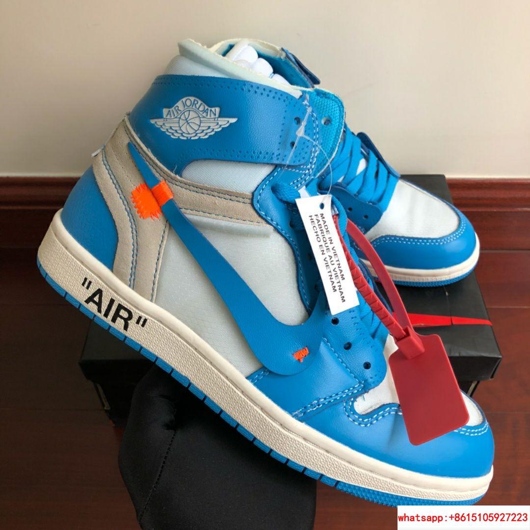 NIKE x OFF-WHITE The Ten Air Jordan 1 Light Blue x White Men's Sneakers nike  4