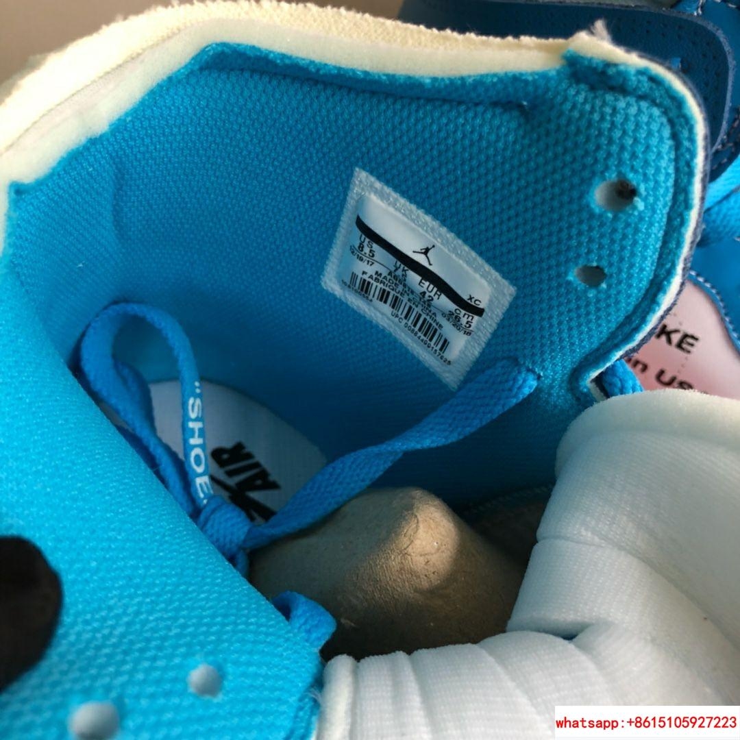 NIKE x OFF-WHITE The Ten Air Jordan 1 Light Blue x White Men's Sneakers nike  5