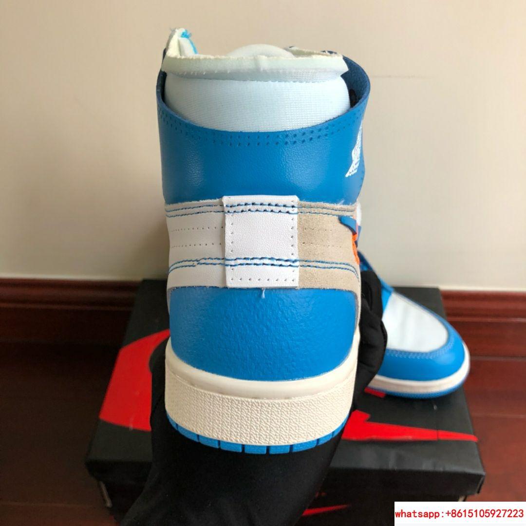 NIKE x OFF-WHITE The Ten Air Jordan 1 Light Blue x White Men's Sneakers nike  7