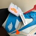 NIKE x OFF-WHITE The Ten Air Jordan 1 Light Blue x White Men's Sneakers nike  8