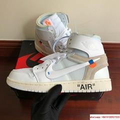 7243e21975123 OFF-White x Nike Air Jordan 1 Retro High White jordan shoes (Hot Product