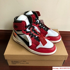 "NIKE AIR JORDAN 1 ""Red"" x OFF-WHITE * 36-46 EU  (Hot Product - 1*)"
