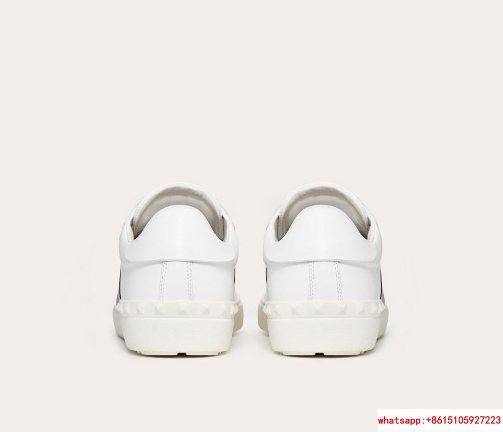 valentino calskin open sneaker white black valentino sneaker valentino shoes  3