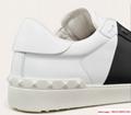 valentino calskin open sneaker white black valentino sneaker valentino shoes  5