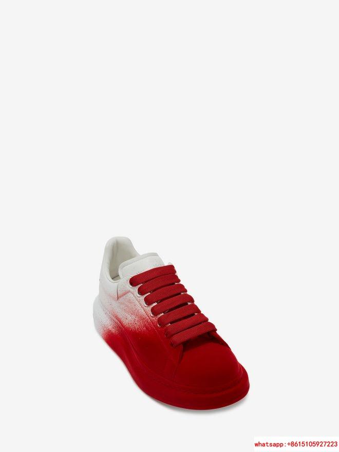 alexander         oversized sneaker optic white lust red           shoes  2