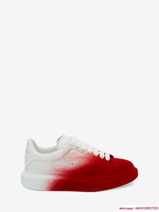 alexander         oversized sneaker optic white lust red           shoes  1