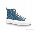 stellar sneaker boot Monogram denim Bleu