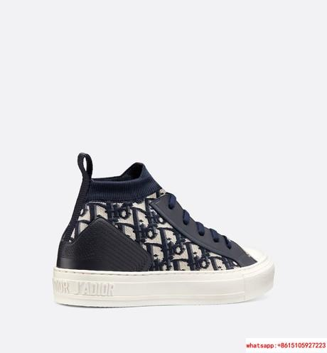 WALK'N'DIOR TECHNICAL KNIT OBLIQUE MID-TOP SNEAKER DIOR WOMEN SNEAKER DIOR SHOE  3