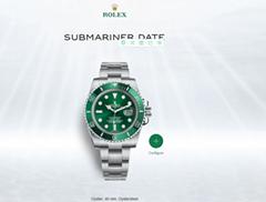Rolex Submariner date Oyster, 40 mm, Oystersteel 16610LV Green Bezel rolex watch