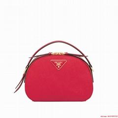 Prada Odette Saffiano leather bag prada bags  red   iconic saffiano leather
