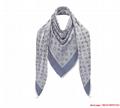 monogram denim shawl  Bleu Clair