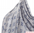 monogram denim shawl  Bleu Clair    shawl M71382  5