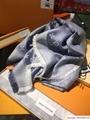monogram denim shawl  Bleu Clair    shawl M71382  11