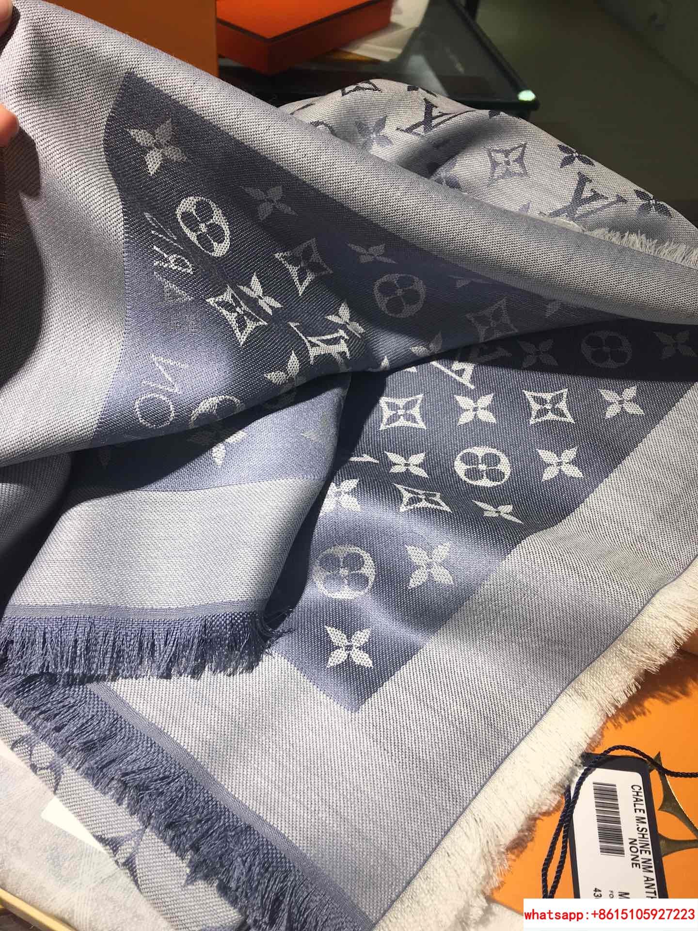 monogram denim shawl  Bleu Clair    shawl M71382  13