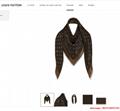so shine monogram shawl  M71548    shawl  2