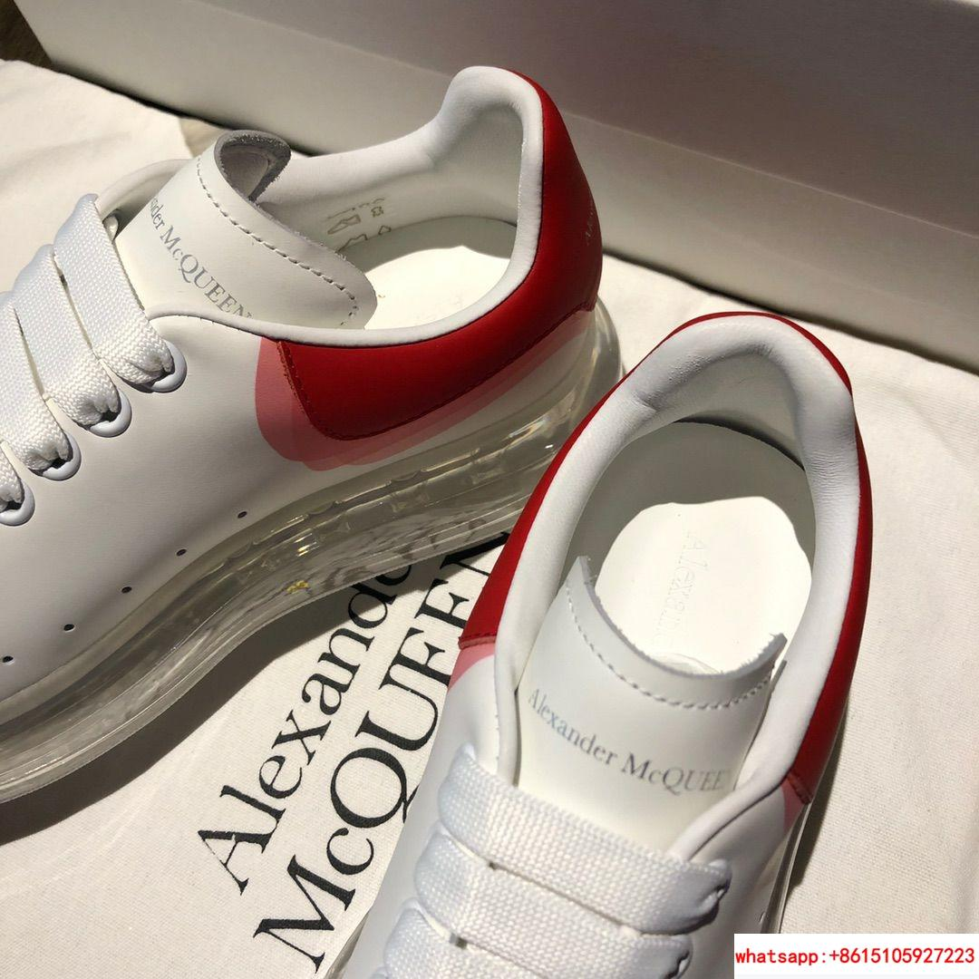 alexander         oversized sneaker red white air cushion sneaker  5