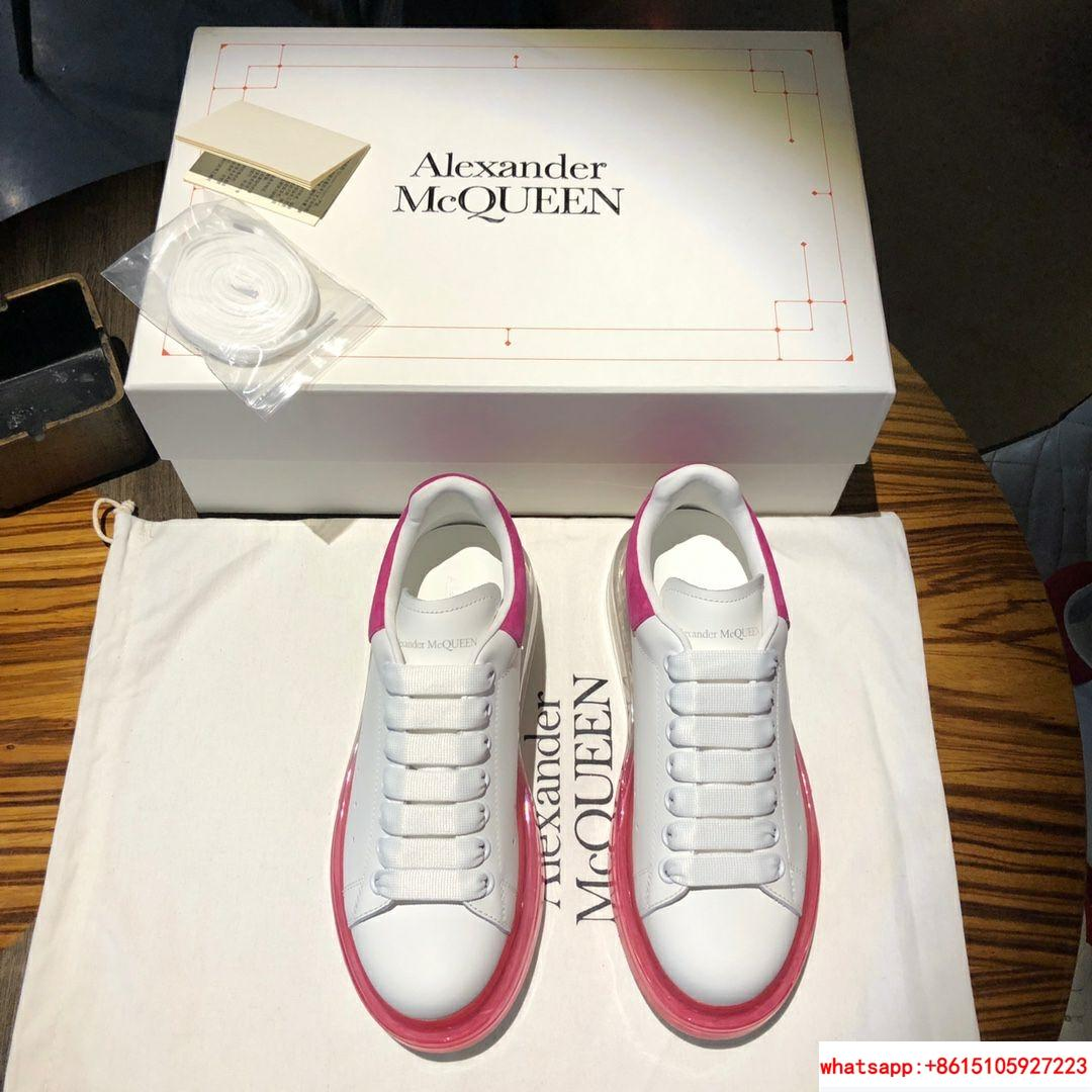 alexander mcqueen oversized sneaker air cushion sneaker 100% lambskin inside   3