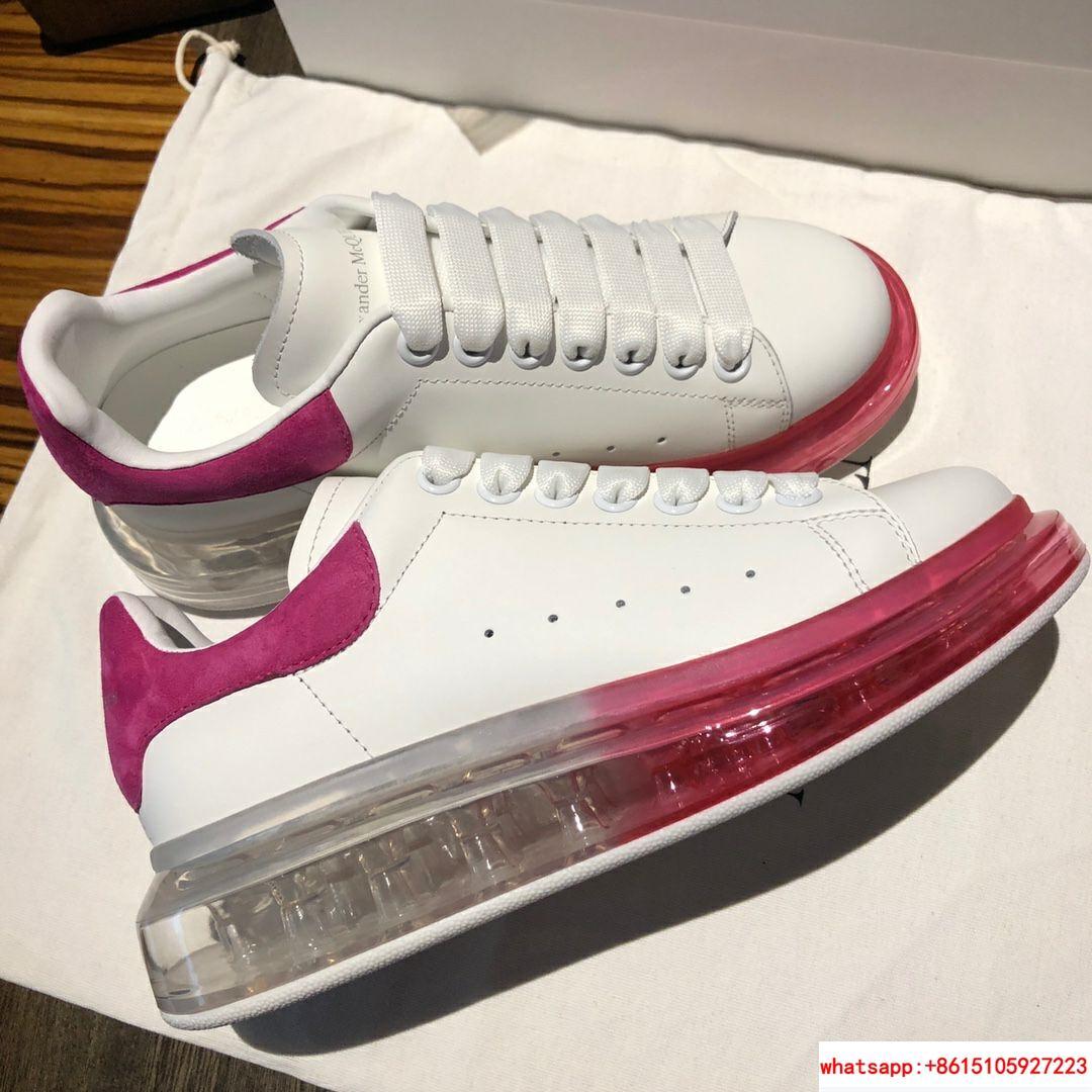 alexander mcqueen oversized sneaker air cushion sneaker 100% lambskin inside   5