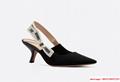 j'a     slingback in black technical fabric 6.5 cm comma heel      pump heels  2