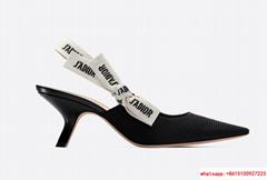 j'a     slingback in black technical fabric 6.5 cm comma heel      pump heels
