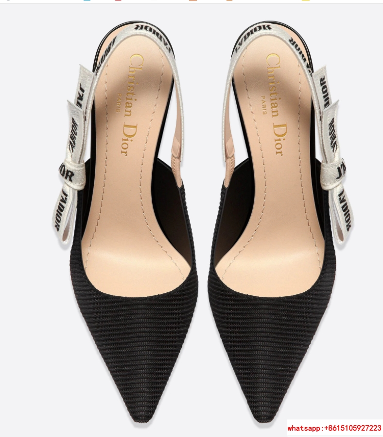 j'a     slingback in black technical fabric 6.5 cm comma heel      pump heels  3