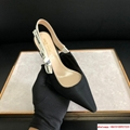 j'a     slingback in black technical fabric 6.5 cm comma heel      pump heels  7