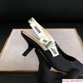 j'a     slingback in black technical fabric 6.5 cm comma heel      pump heels  5