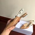 j'a     patent calfskin ballet pump  in nude patent calfskin 1 cm heel women   5