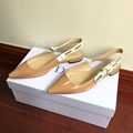 j'a     patent calfskin ballet pump  in nude patent calfskin 1 cm heel women   6