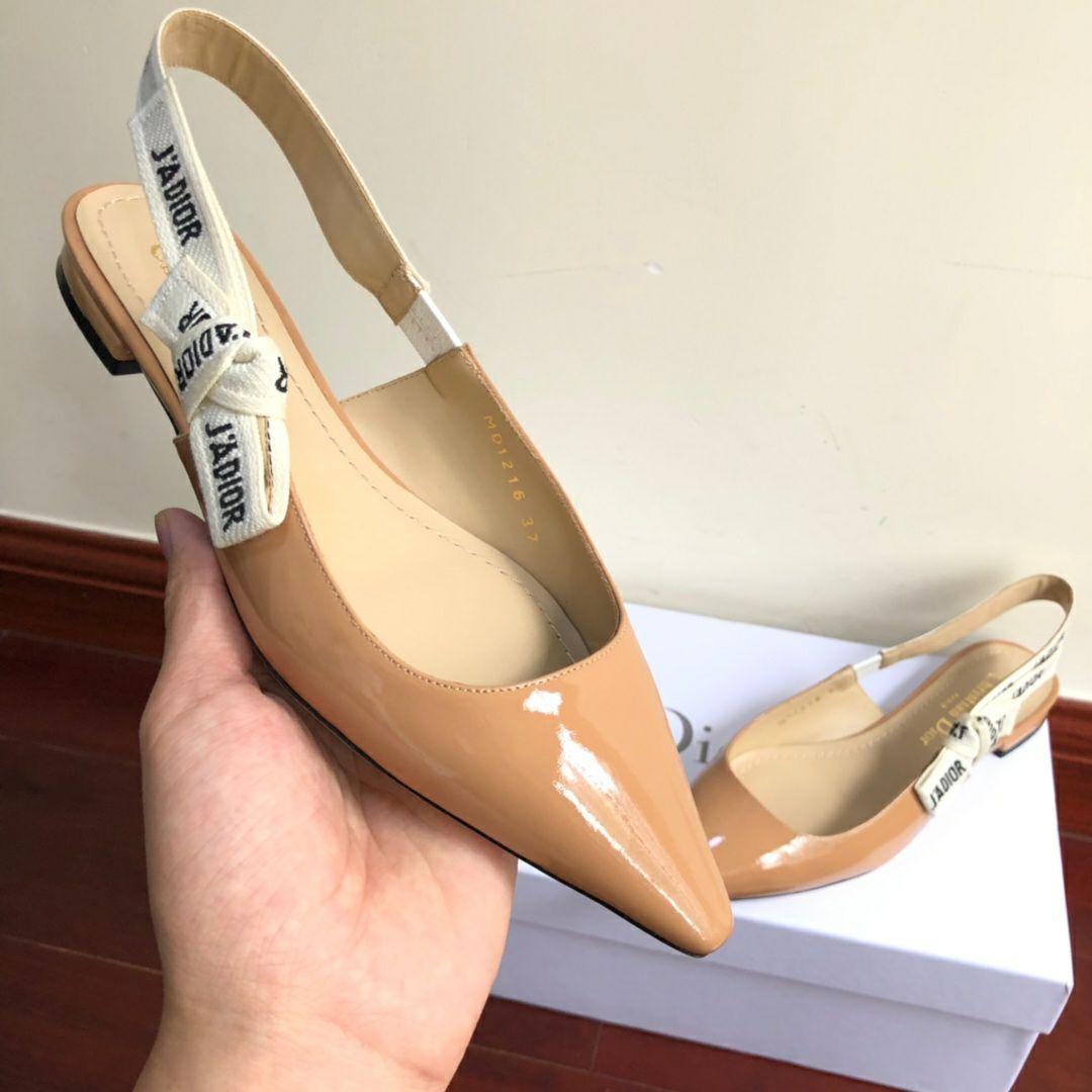 j'a     patent calfskin ballet pump  in nude patent calfskin 1 cm heel women   9
