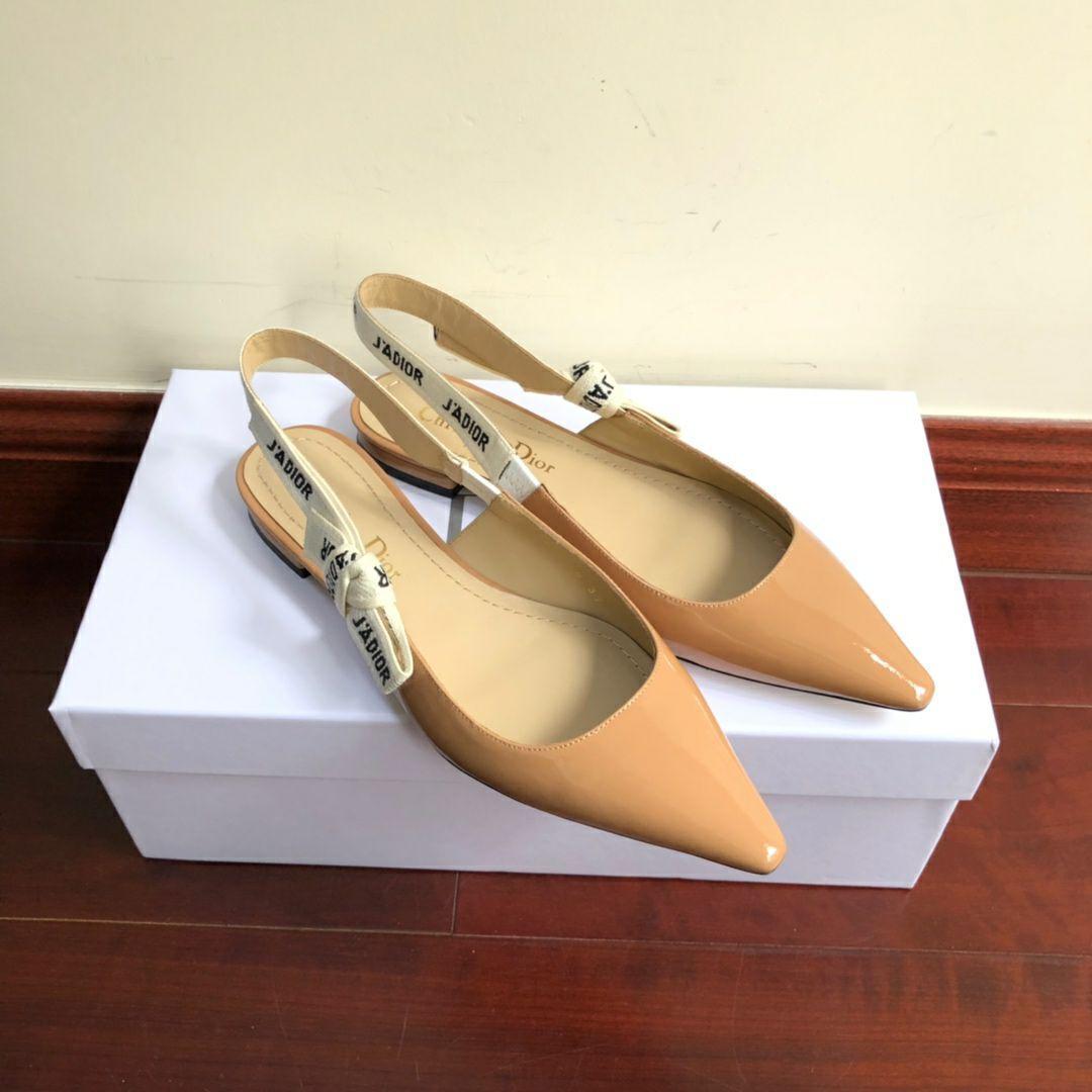 j'a     patent calfskin ballet pump  in nude patent calfskin 1 cm heel women   10