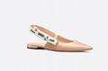 j'a     patent calfskin ballet pump  in nude patent calfskin 1 cm heel women   2